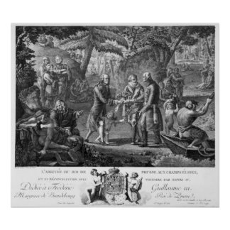 Henri IV  reconciling Frederick William II Poster