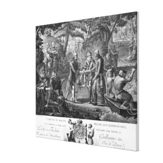 Henri IV  reconciling Frederick William II Stretched Canvas Print