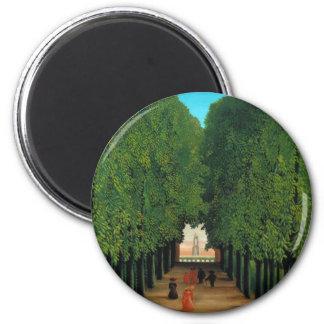 Henri Rousseau, Avenue in the Park at Saint Cloud 6 Cm Round Magnet