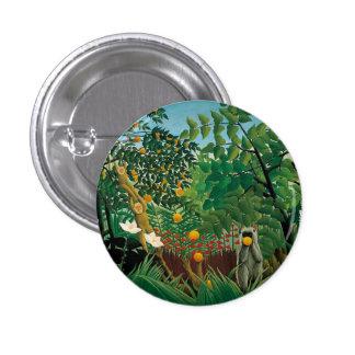 Henri Rousseau Exotic Landscape Button