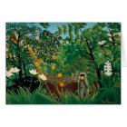 Henri Rousseau Exotic Landscape Note Card