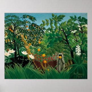 Henri Rousseau Exotic Landscape Poster
