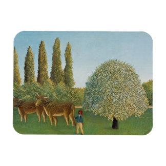Henri Rousseau - Meadowland Rectangular Photo Magnet