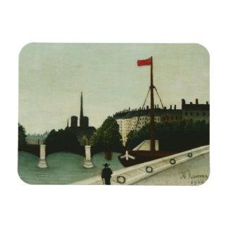 Henri Rousseau - Notre Dame Rectangular Photo Magnet