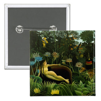 Henri Rousseau Painting 15 Cm Square Badge