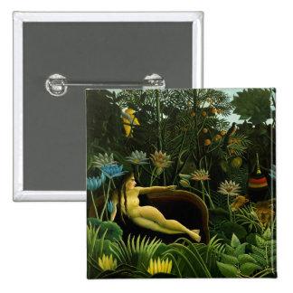 Henri Rousseau Painting 15 Cm Square Badge