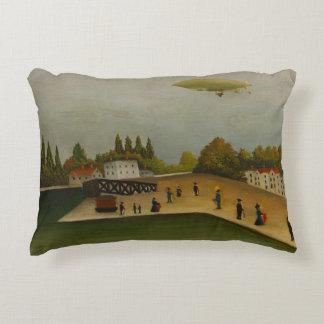 Henri Rousseau - Quai d'Ivry Decorative Cushion