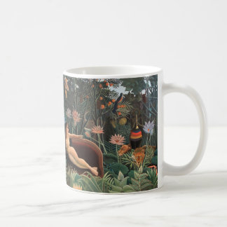 Henri Rousseau The Dream Jungle Flowers Surrealism Coffee Mug