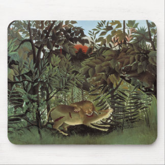 Henri Rousseau - The Hungry Lion Attacking Mouse Pad