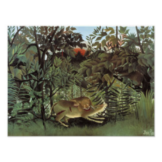 Henri Rousseau - The Hungry Lion Attacking Photo Print