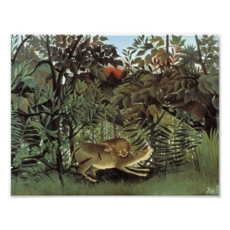 Henri Rousseau - The Hungry Lion Attacking Photographic Print