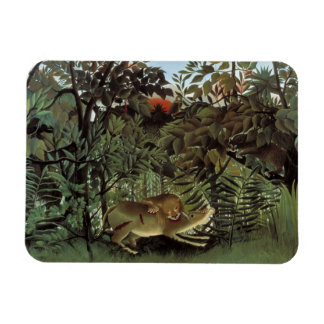 Henri Rousseau - The Hungry Lion Attacking Rectangular Photo Magnet
