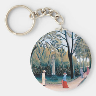 Henri Rousseau - The Luxembourg Gardens Key Ring