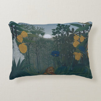 Henri Rousseau - The Repast of the Lion Decorative Cushion