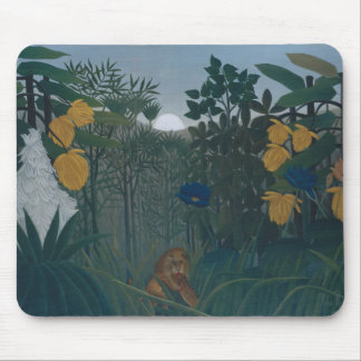 Henri Rousseau - The Repast of the Lion Mouse Pad