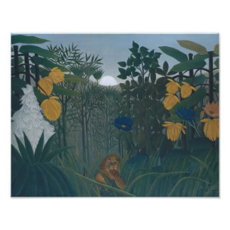 Henri Rousseau - The Repast of the Lion Photo Print