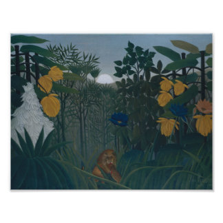 Henri Rousseau - The Repast of the Lion Poster