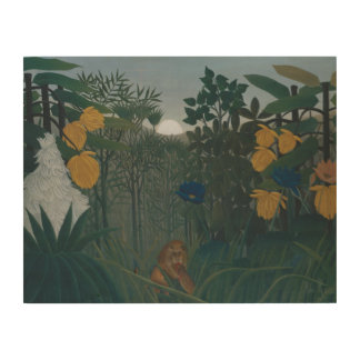 Henri Rousseau - The Repast of the Lion Wood Print