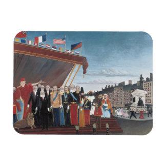 Henri Rousseau - The Representatives of Foreign Rectangular Photo Magnet