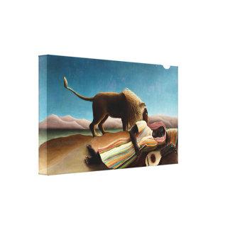 Henri Rousseau The Sleeping Gypsy Canvas Print