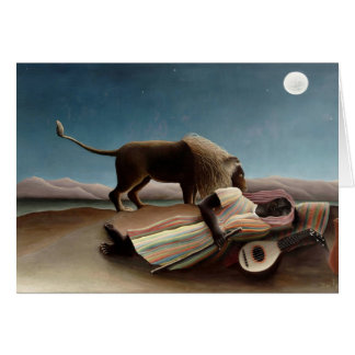 Henri Rousseau- The Sleeping Gypsy Greeting Card