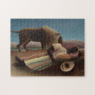 Henri Rousseau The Sleeping Gypsy Lion Moon Night Jigsaw Puzzle