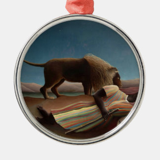 Henri Rousseau The Sleeping Gypsy Metal Ornament