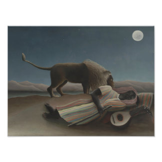 Henri Rousseau - The Sleeping Gypsy Photographic Print
