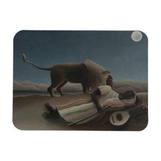 Henri Rousseau - The Sleeping Gypsy Rectangular Photo Magnet