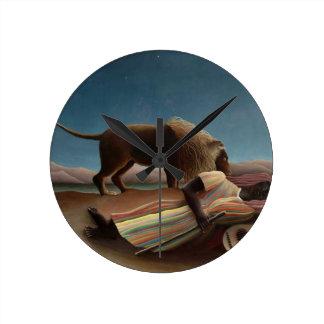 Henri Rousseau The Sleeping Gypsy Round Clock