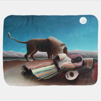 Henri Rousseau The Sleeping Gypsy Vintage Baby Blanket