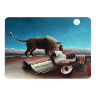 Henri Rousseau The Sleeping Gypsy Vintage Card