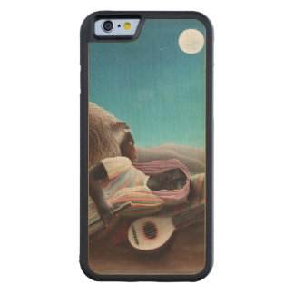 Henri Rousseau The Sleeping Gypsy Vintage Carved Maple iPhone 6 Bumper Case