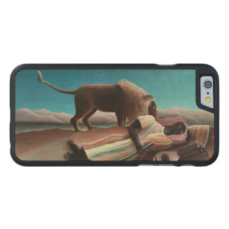 Henri Rousseau The Sleeping Gypsy Vintage Carved® Maple iPhone 6 Case