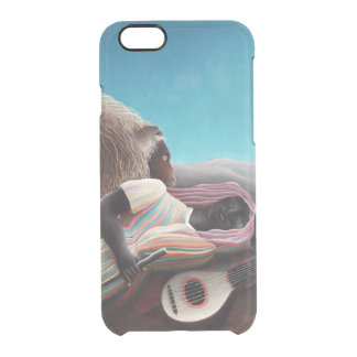 Henri Rousseau The Sleeping Gypsy Vintage Clear iPhone 6/6S Case