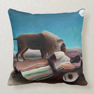 Henri Rousseau The Sleeping Gypsy Vintage Cushion
