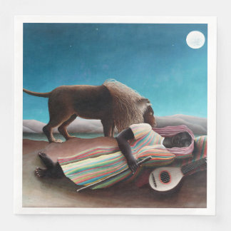 Henri Rousseau The Sleeping Gypsy Vintage Disposable Napkin