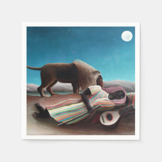 Henri Rousseau The Sleeping Gypsy Vintage Disposable Serviettes