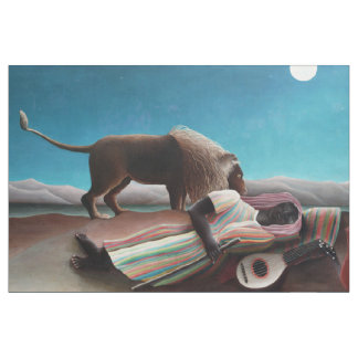 Henri Rousseau The Sleeping Gypsy Vintage Fabric