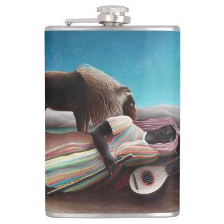 Henri Rousseau The Sleeping Gypsy Vintage Hip Flask