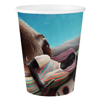 Henri Rousseau The Sleeping Gypsy Vintage Paper Cup