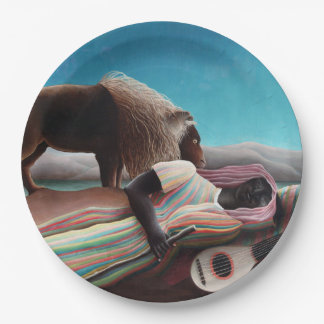 Henri Rousseau The Sleeping Gypsy Vintage Paper Plate