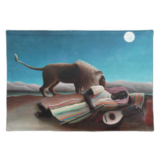 Henri Rousseau The Sleeping Gypsy Vintage Placemat