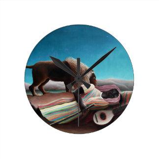 Henri Rousseau The Sleeping Gypsy Vintage Round Clock