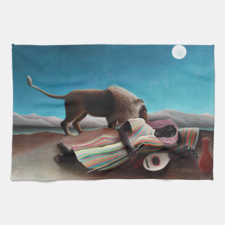 Henri Rousseau The Sleeping Gypsy Vintage Tea Towel