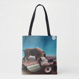 Henri Rousseau The Sleeping Gypsy Vintage Tote Bag