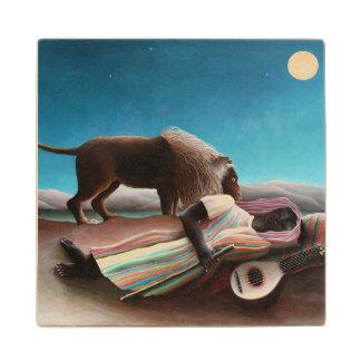 Henri Rousseau The Sleeping Gypsy Vintage Wood Coaster