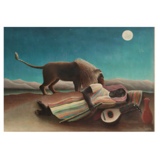 Henri Rousseau The Sleeping Gypsy Vintage Wood Poster