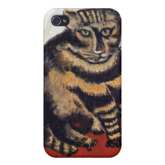 Henri Rousseau - The Tiger Cat ( Le Chat Tigre ) iPhone 4 Cover