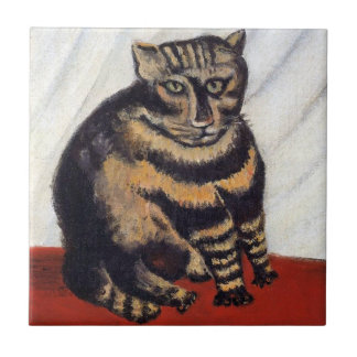 Henri Rousseau - The Tiger Cat ( Le Chat Tigre ) Tile